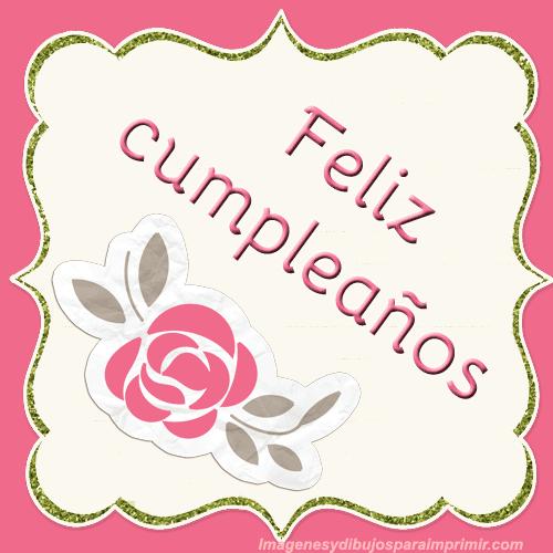 Feliz Cumpleaños Para Imprimir Gratis Imágenes Y Dibujos