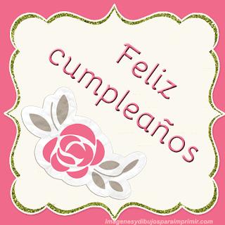 Feliz cumpleaños con rosas