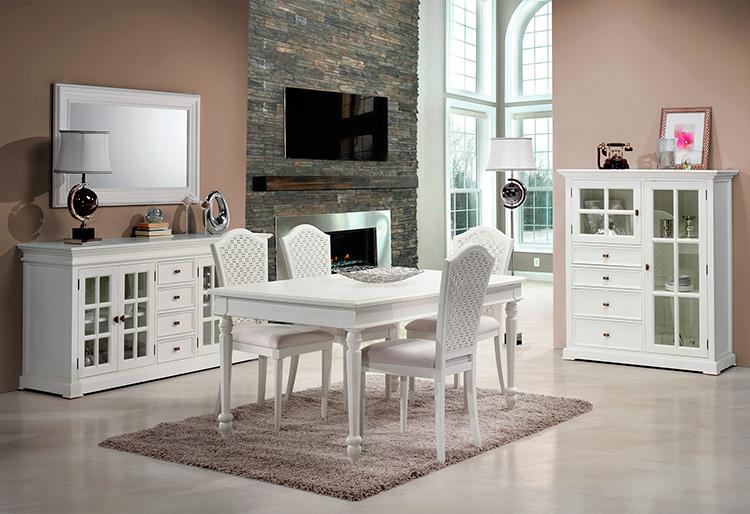 muebles de comedor comedores clasicos blancos
