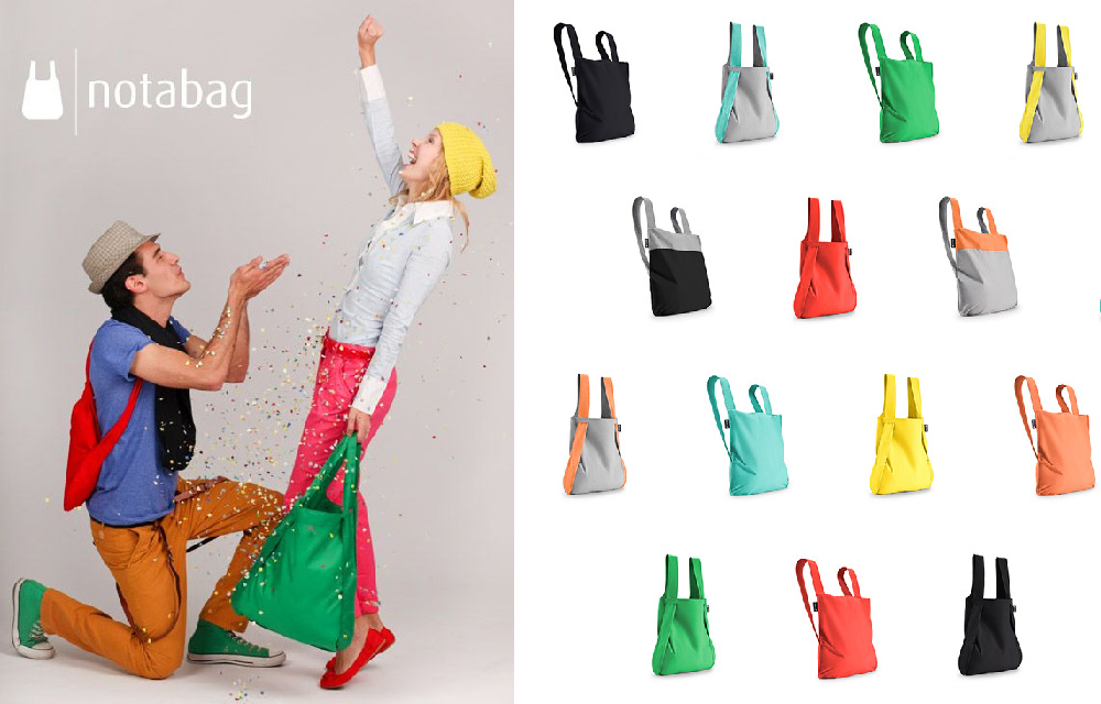 Notabag è la combinazione intelligente di una borsa e uno zaino