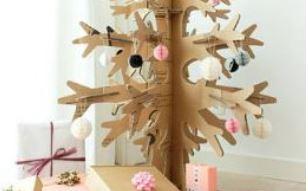 sapin carton christmas tree cardboard