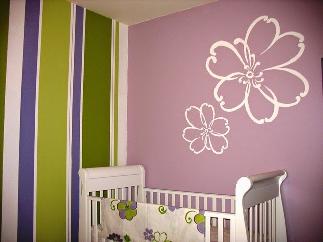 ideas for painting stripes in a baby's room