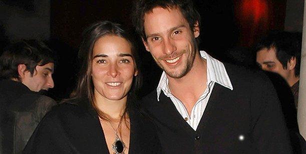 Juana Viale y Gonzalo Valenzuela en un restaurante de Palermo.
