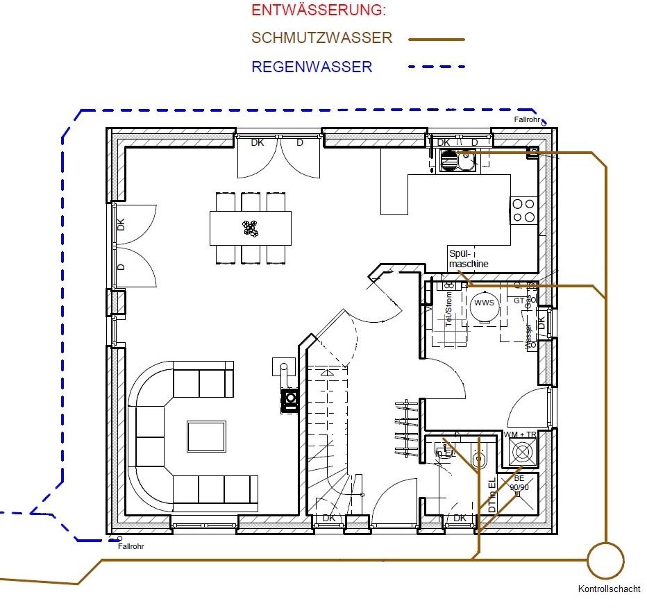 benny und janina bauen eine stadtvilla anschluss schmutz und regenwasser. Black Bedroom Furniture Sets. Home Design Ideas