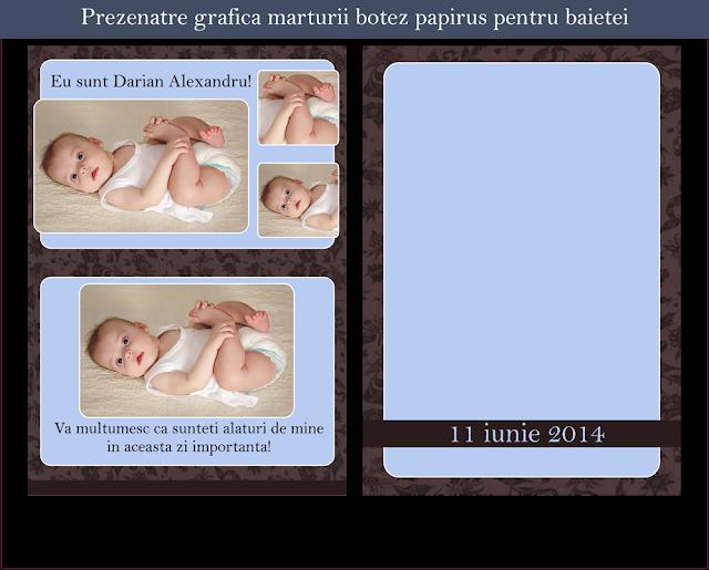 marturii botez papirus baieti