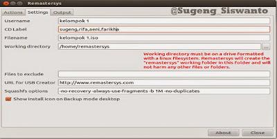 Remastering  dengan Remastersys  Ubuntu 12.04(LINUX)