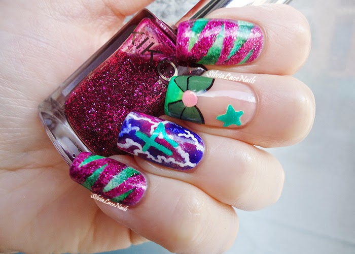 Sailor Jupiter Nail Art