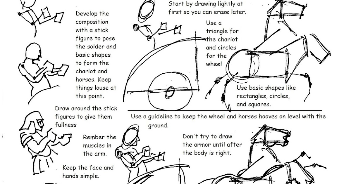 Roman Chariots Drawings How to Draw Worksheets...