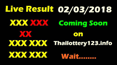 Thailand Lottery Result 2 March