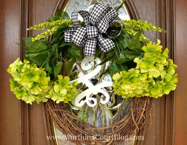 Treasure Hunt Thursday-Worthington Court- Spring Wreath Tutorial- From My Front Porch To Yours- Weekly Blog Link Up Party