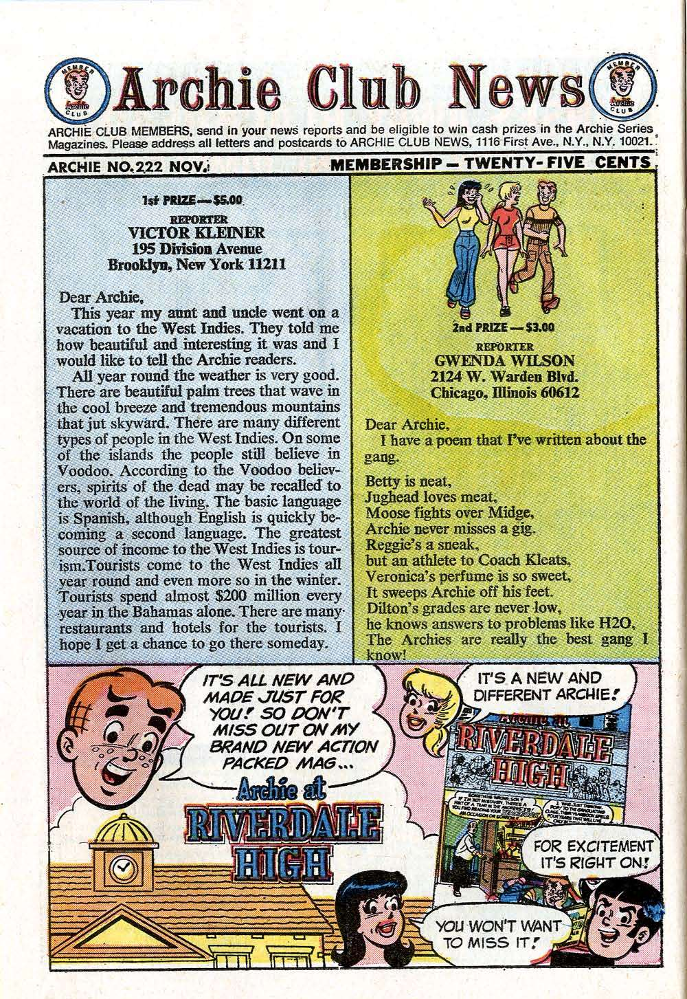 Read online Archie (1960) comic -  Issue #222 - 26