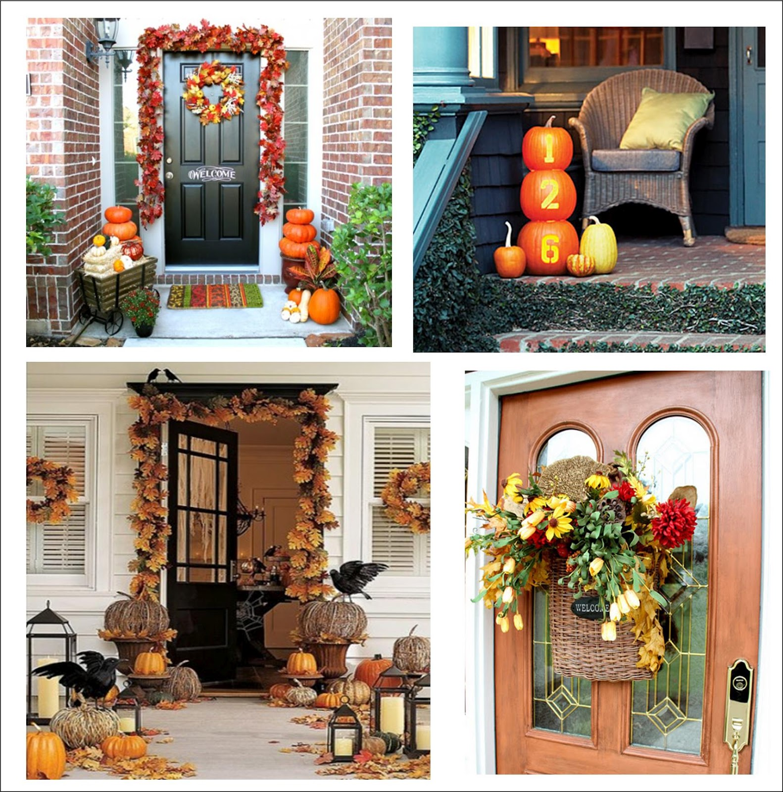 It 39 s written on the wall 90 fall porch decorating ideas for Pictures of fall decorations for outdoors