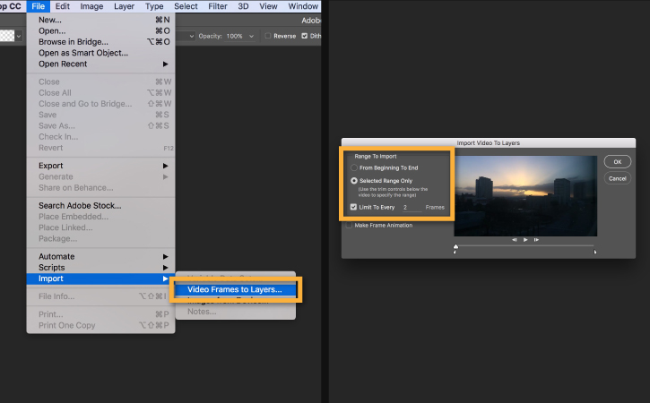 Video Frames to Layers