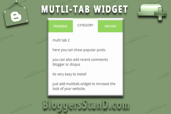 How To Install add Multi-Tab Widget gadget In Blogger Sidebar