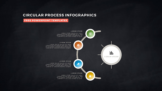 Circular Process Diagram Infographic Free PowerPoint Template Slide 10