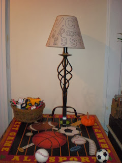 stencil lampshade diy recycle