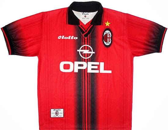 NUMBER Official AC Milan Home// Away// 3RD//4TH 1995-1998 Lot KIT NAME