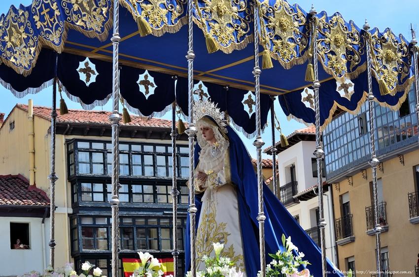 Maria Santisima de la Misericordia. Cofradia de las Bienaventuranzas. Leon. Foto. G Marquez.