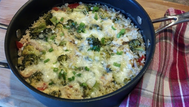 Chicken & Rice Casserole, done in 30 minutes #QuickFixCasserole #CountryCrock