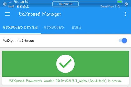 [MIUI10] Mido, Cara Pasang EdXposed Framework Xiaomi Note 4/4x Os Oreo v 8.0/8.1