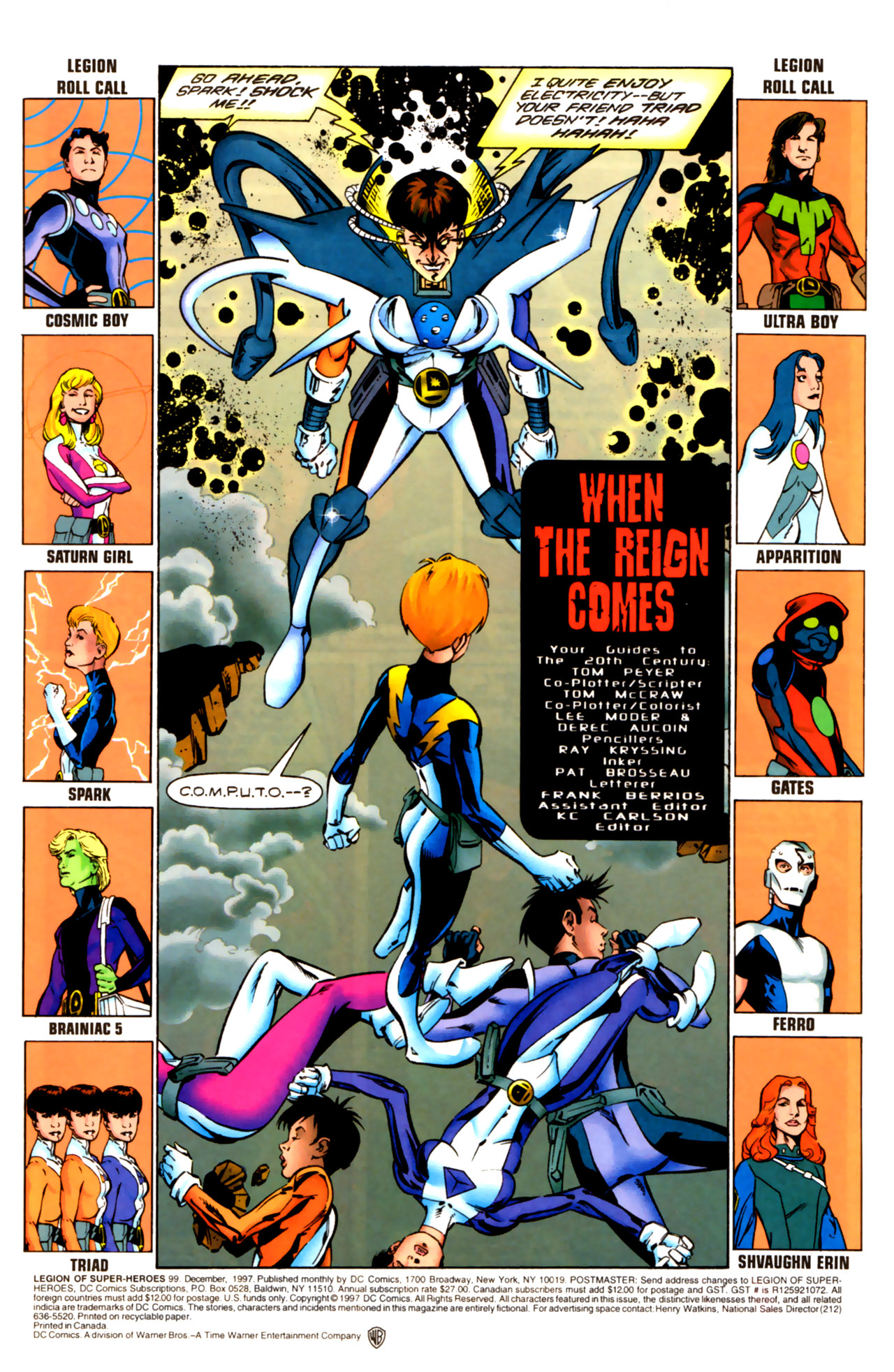 Legion of Super-Heroes (1989) 99 Page 1