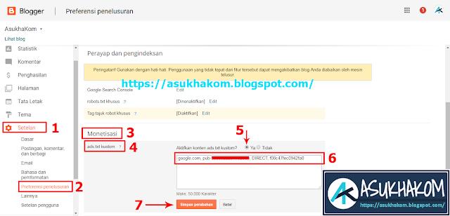 Cara Mengaktifkan Ads txt di Blogger atau Blogspot
