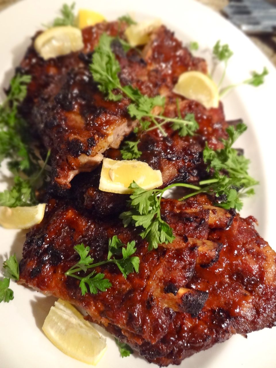 Scrumpdillyicious Ina Gartens Foolproof Ribs With Barbecue Sauce
