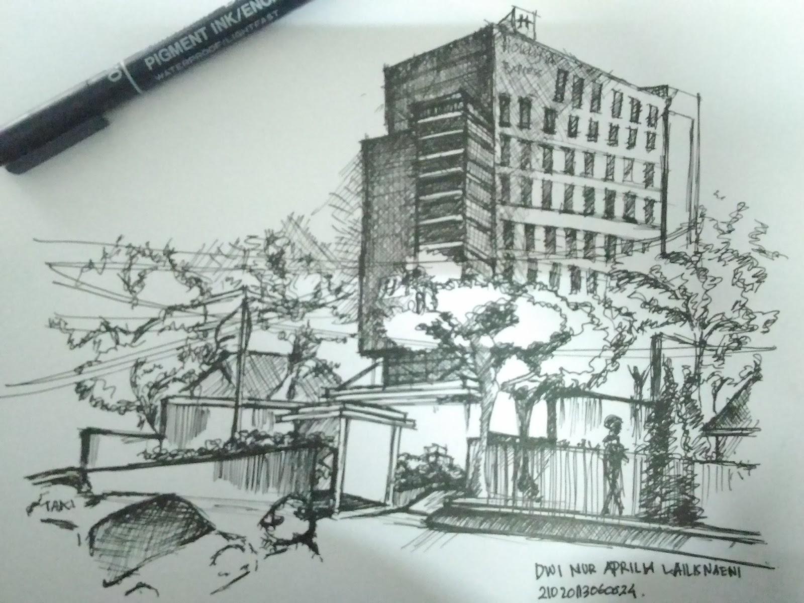 70 Sketsa Gambar Perkotaan