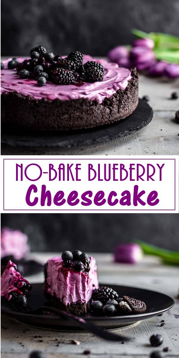No-Bake Blueberry Cheesecake #Cakerecipes