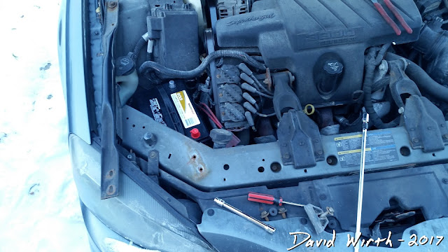 cannot remove battery from car, frame rail, grand prix