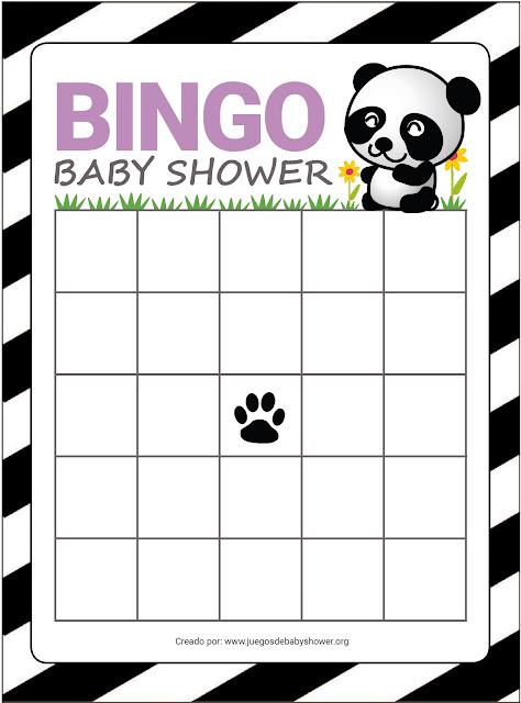 Bingo para baby shower