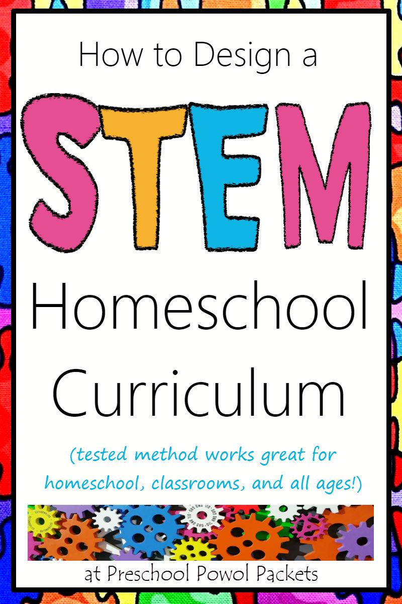 how to design a stem homeschool curriculum | preschool powol packets
