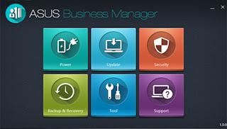 Tampilan ASUS Bussines Manager di ASUSPRO B8320