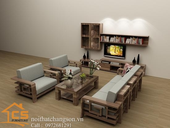 Sofa bền đẹp - giá rẻ sản xuất tại xưởng Nội Thất Chàng Sơn: Sofa đẹp 5