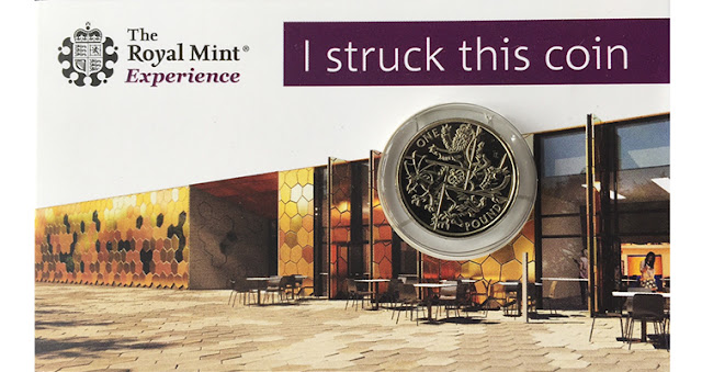 Royal Mint, The Royal Mint Experience, Llantrisant, days out, last round £1, strike a coin,