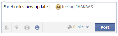 Custom feelings in Facebook status