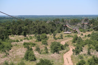 Looking out to the rope bridges and the Valley Vista platform