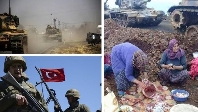Para Ibu-ibu Turki Turut Membantu Tentara Turki Dalam Operasi di Afrin dengan Menyiapkan Kopi dan Makanan