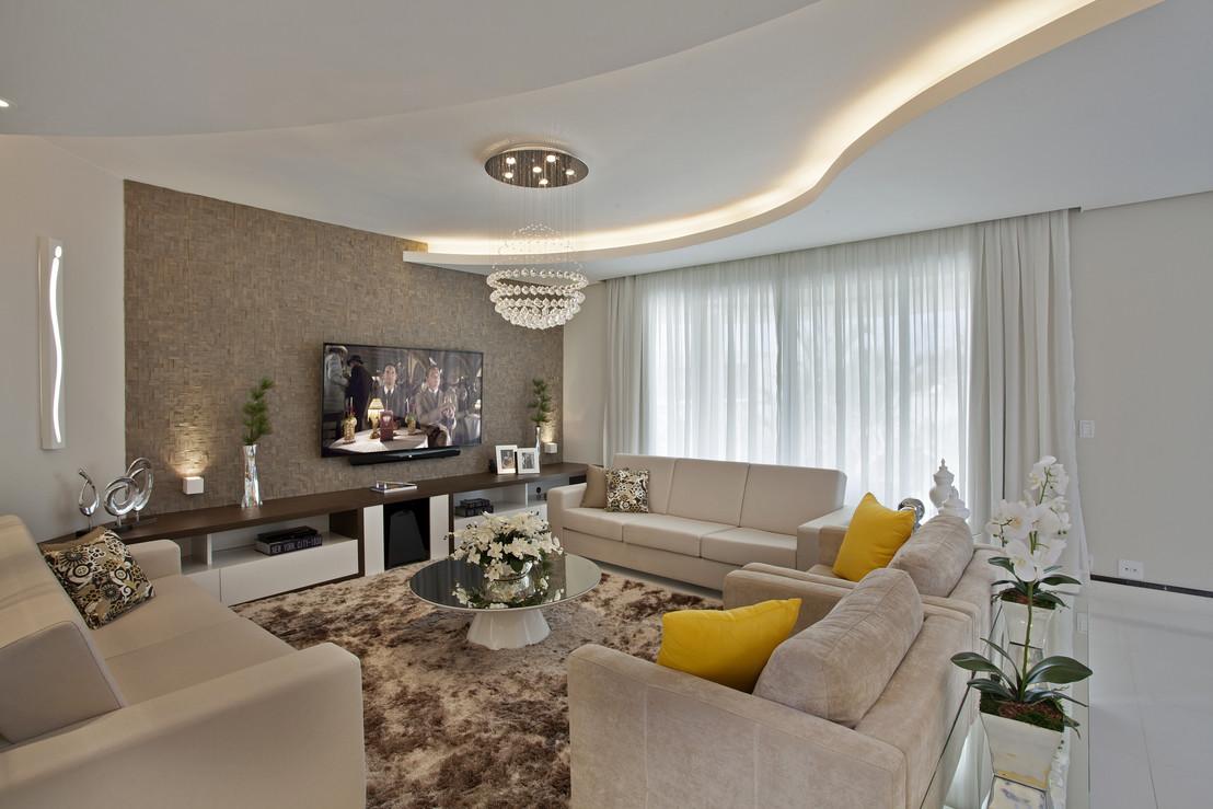 Construindo Minha Casa Clean Consultoria De Decora O Salas  -> Sala De Tv Com Duas Janelas