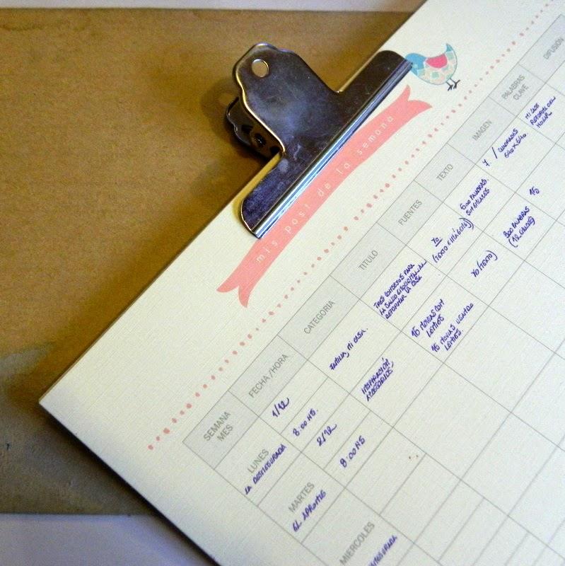 Calendario de publicaciones DIY