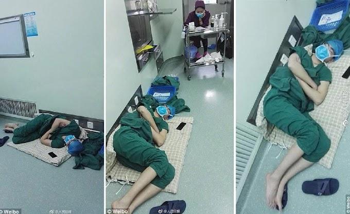 Terlalu Penat....doktor tertidur di lantai hospital lepas bekerja 28 jam