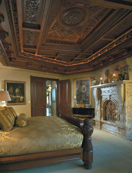 Bedroom wooden ceiling design