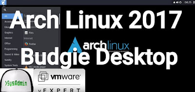 Arch Linux 2017 Installation with Budgie Desktop