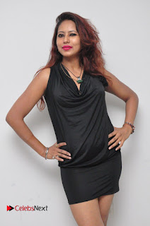 Sonia Pictures in Black Dress at Yes Mart Event
