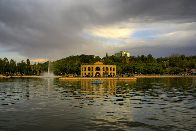 El Goli mansion in an artificial lake. Tabriz-Iran