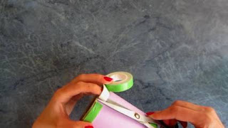 cara membuat vas bunga dari sedotan plastik