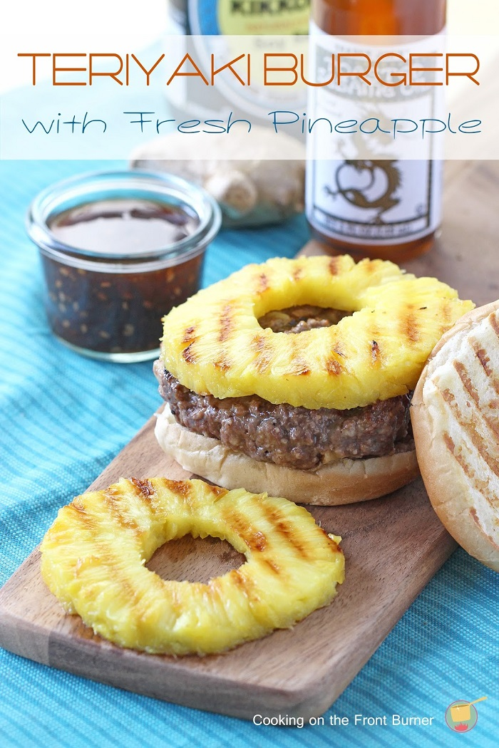 Teriyaki Burger with Fresh Pineapple
