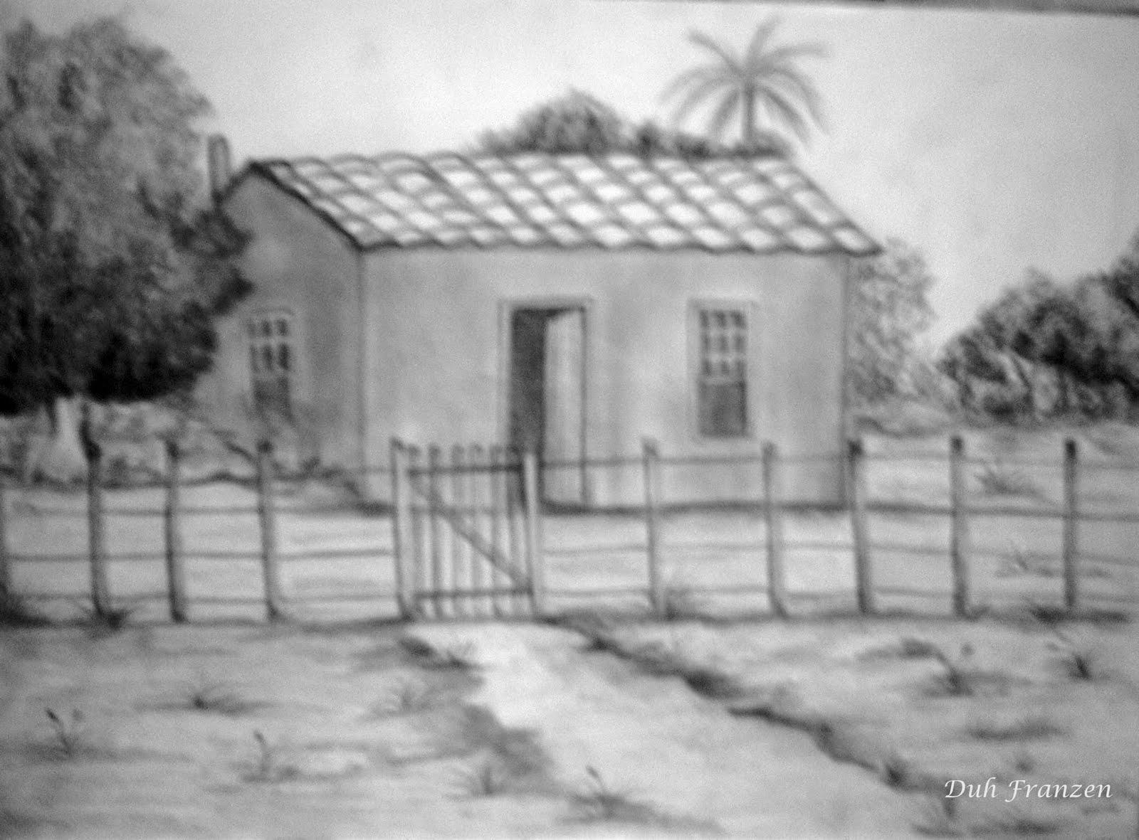 Dulce Arteonline Casa No Sitio Desenho Lapis 6b