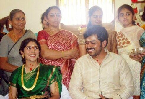 Karthi Engagement Photos--Tamil Actor Karthi Engagement ...  Actor Karthi Daughter Umayaal Photos