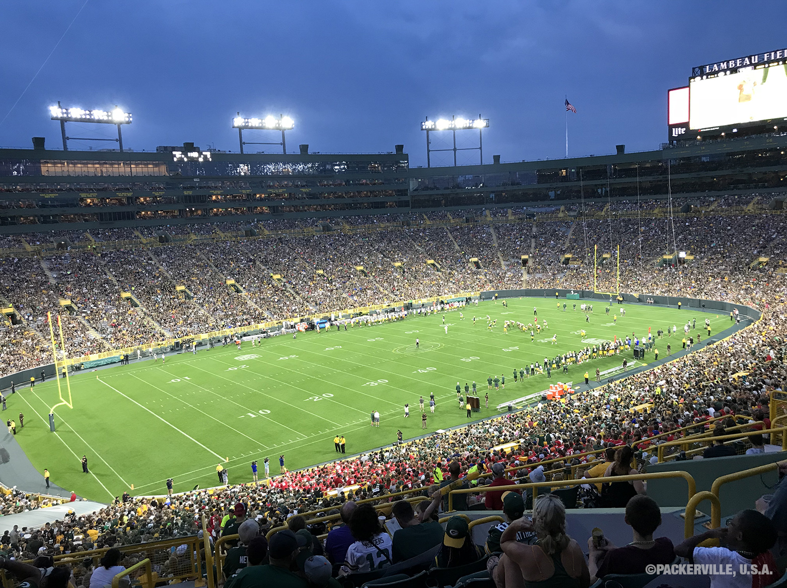 Packerville U S A 2018 Packers Family Night Practice 8